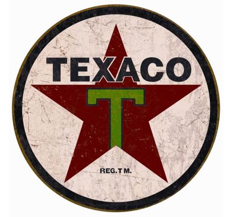 Plåtskylt Texaco 1936