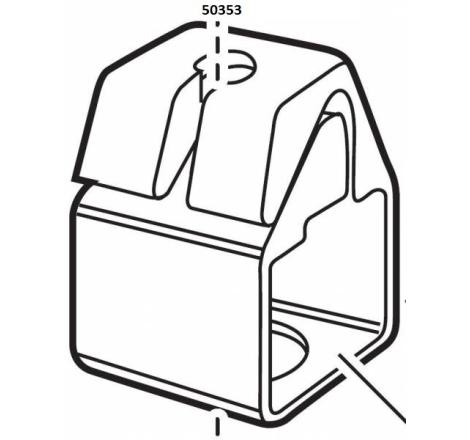 Klämfäste fyrkantsrör till TH 739