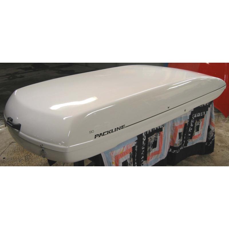 Takbox Packline Original 90 - 480 Liter. Vit högblank