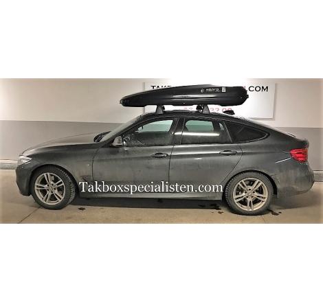 Takbox Hapro Zenith 8.6 Brilliantsvart metallic på BMW 3 Serie GT