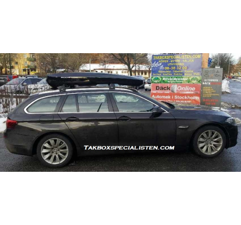 Takbox Packline NX Premium Svart högblank på BMW 5 Serie Touring
