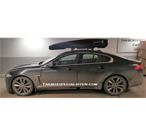 Takbox Packline NX 215 Svart högblank På Jaguar XF