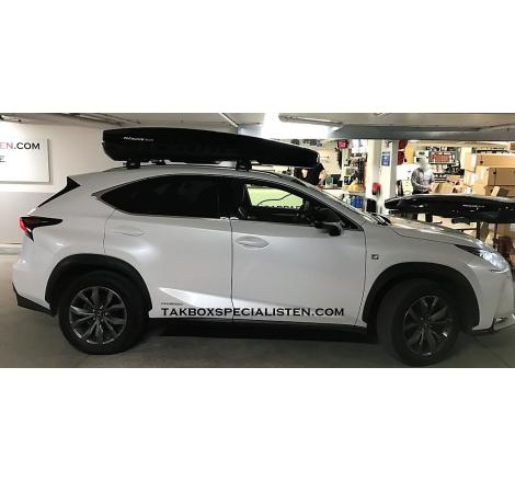 Takbox Packline NX 215 Svart högblank På Lexus NX