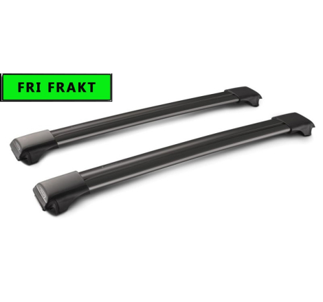 Yakima/Whispbar Black takräcke BMW 5 series 5-dr Touring 1997-2003 Rails / reling