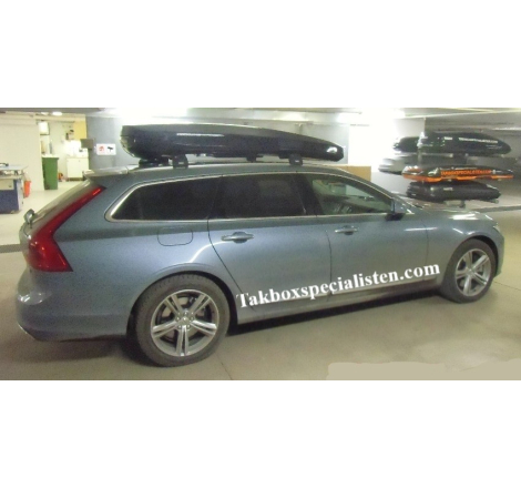 Takbox Packline NX Premium Svart högblank På Volvo V90