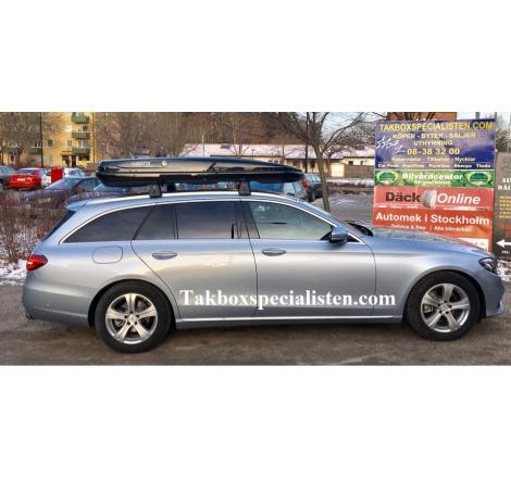Takbox Hapro Nordic Brilliantsvart metallic På Mercedes E-Class