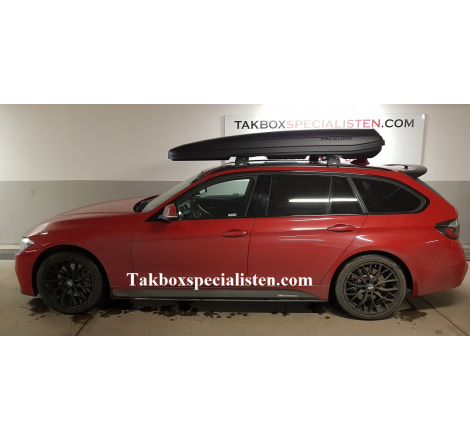 Takbox Packline F Sport Svart matt på BMW 3 Serie Touring