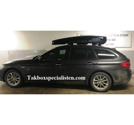 Takbox Packline NX 215 Svart högblank på BMW 5 Serie Touring
