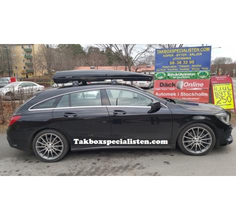 Takbox Packline FX-SUV 2.0 Svart högblank på Mercedes Benz CLA