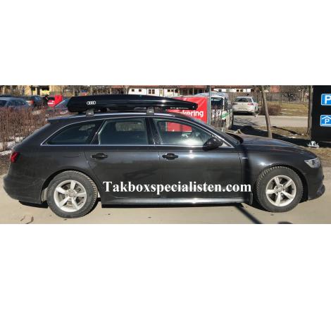"Takbox Packline FX-SUV 2.0 Svart ""Audi Edition"" på Audi A6 Avant"
