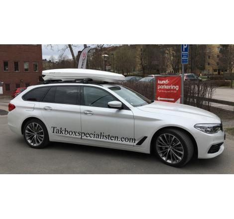 Takbox Packline NX Premium Vit högblank på BMW 5 Serie Touring